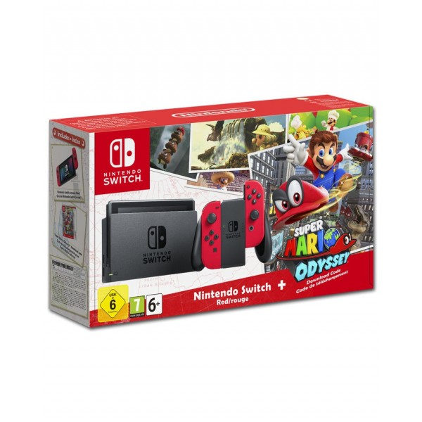 Nintendo Switch - Super Mario Odyssey Set -Red- sofort Lieferbar CH Version NEU