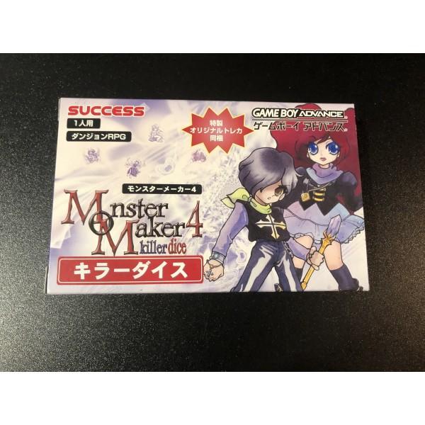 Monster Maker 4 Killer Dice Game Boy Advance GBA