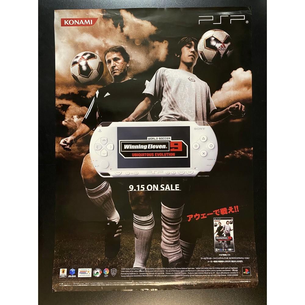 Winning Eleven 9: Ubiquitous Evolution PSP Videogame Promo Poster
