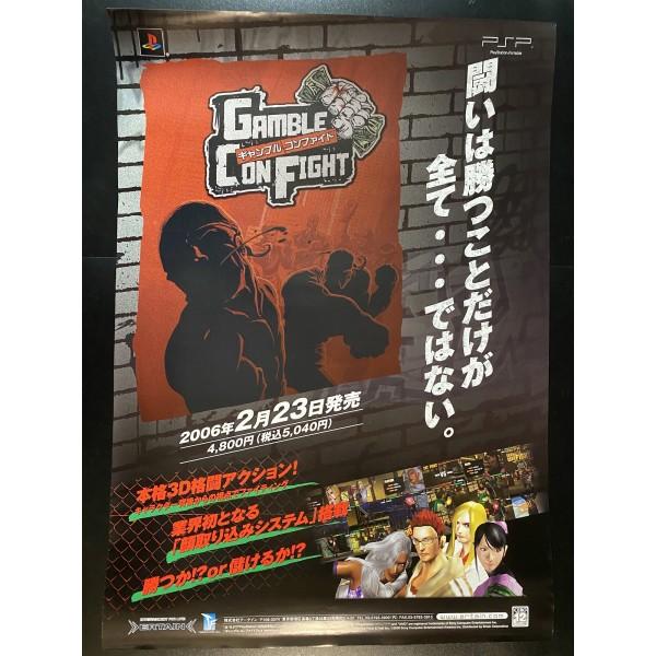 Gamble Con Fight PSP Videogame Promo Poster