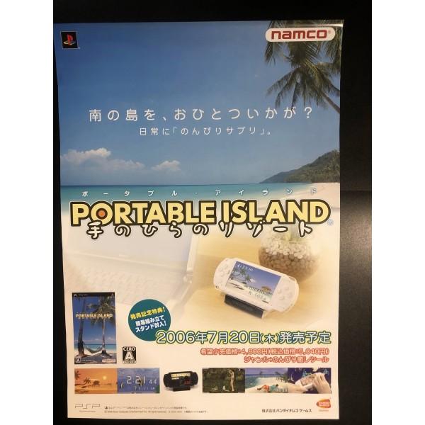 Portable Island: Tenohira Resort PSP Videogame Promo Poster