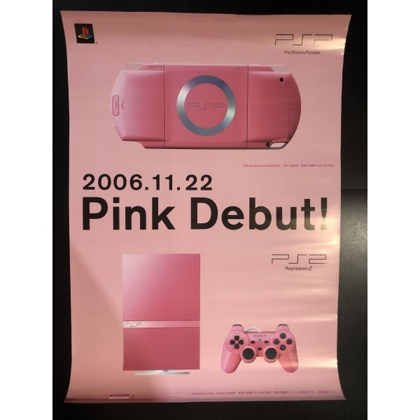 PSP PlayStation Portable Pink PS2 Videogame Promo Poster