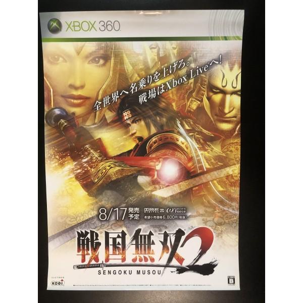 Sengoku Musou 2 XBOX 360 Videogame Promo Poster