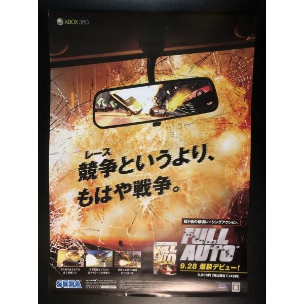 Full Auto XBOX 360 Videogame Promo Poster