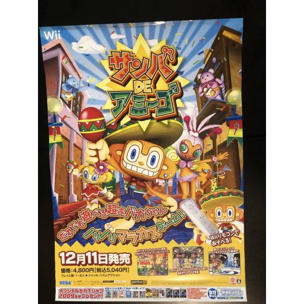 Samba De Amigo Wii Videogame Promo Poster