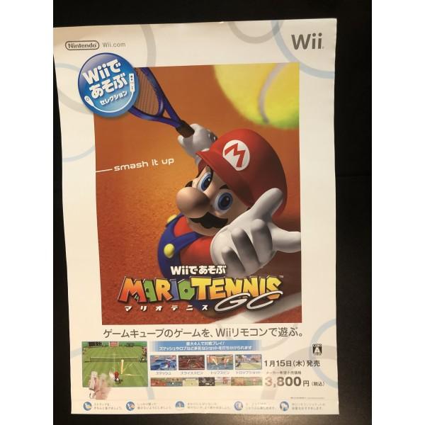 Mario Tennis GC (Wii de Asobu) Wii Videogame Promo Poster