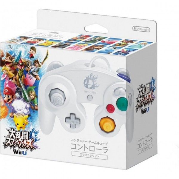 GAMECUBE CONTROLLER für Wii & Wii U (SUPER SMASH BROS. WHITE)